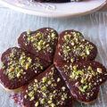 Les coeurs sablés chocolat/pistaches