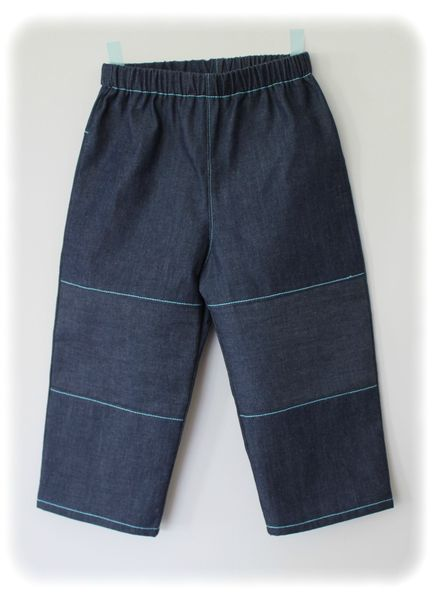 Défi bleu pantalon devant