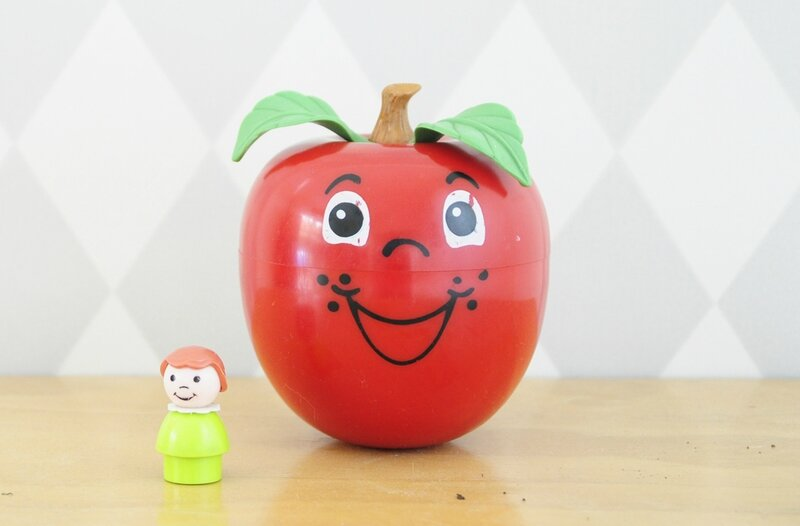 happy apple fisher price 1974