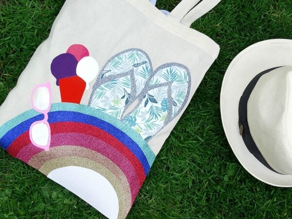 Tote_Bag_Rainbow_Summer_Tongs_Glace_Culturecouture_DTMlle_BD_2