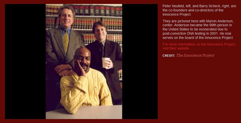 ARTICLe - Peter Neufeld and Bary Scheck, cofounders of Innocence Project