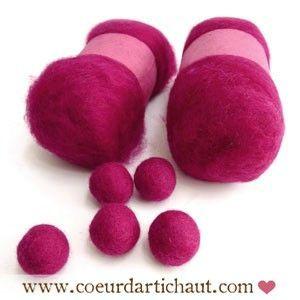 laine-a-feutrer-pelote-rose-fuschia