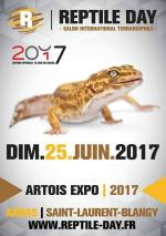 Affiche Reptiles Day Artois expo - Saint-Laurent-Blangy 2017
