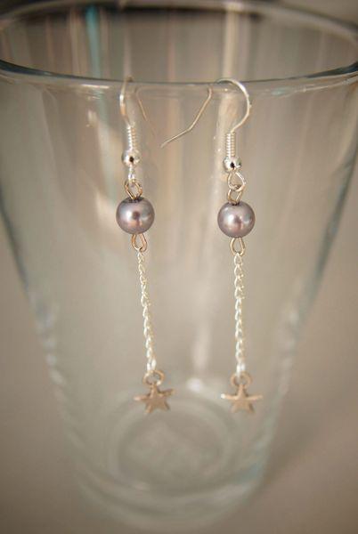 bo perle grises chaine étoile