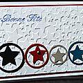 10. blanc, rouge, noir, gris et bleu - étoiles