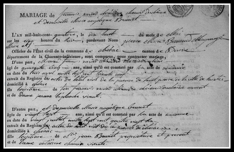 Chesnier Duchesne 2ème mariage