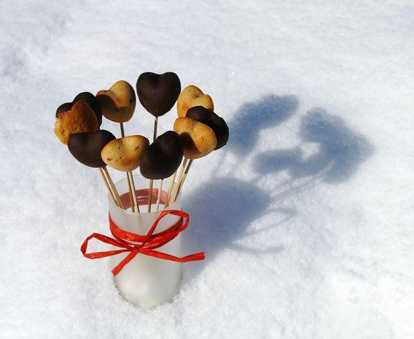 petits coeurs aux framboises et chocolat craquant