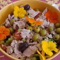 Salade tunisienne aux capucines