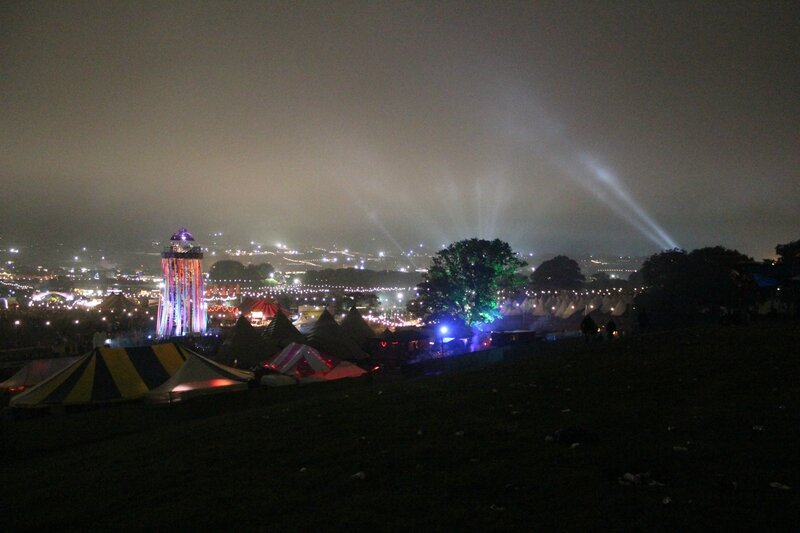 Glastonbury festival 2013 night park stage