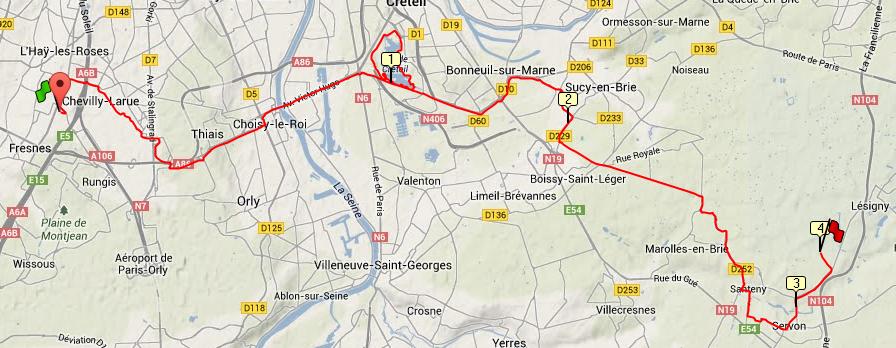 Sortie Longue en revenant du taf le 11/02/2014 (35km)