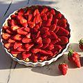 Tarte aux fraises, et résultat concours...