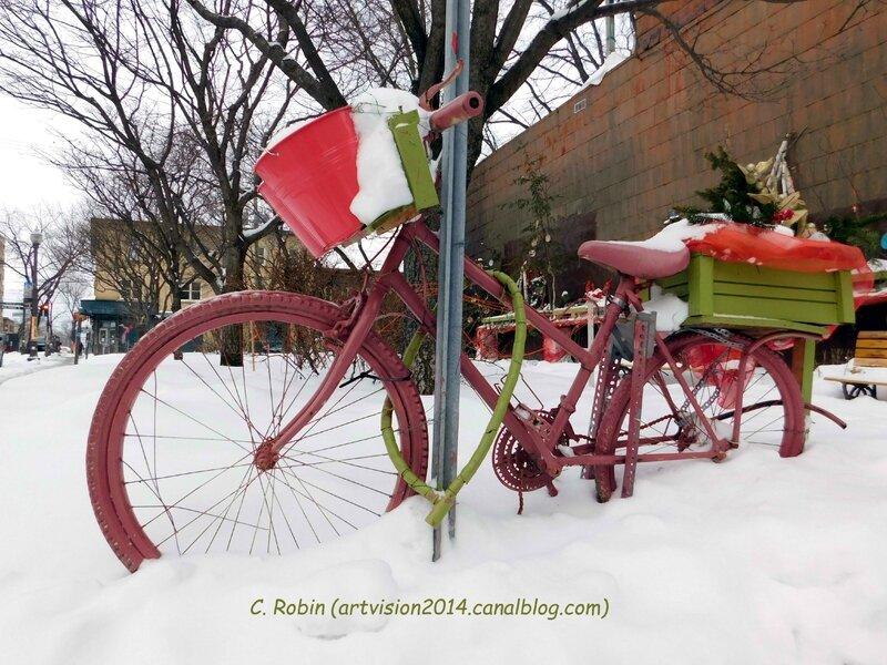 Scène de rue bicycle hiver - Décembre 2015