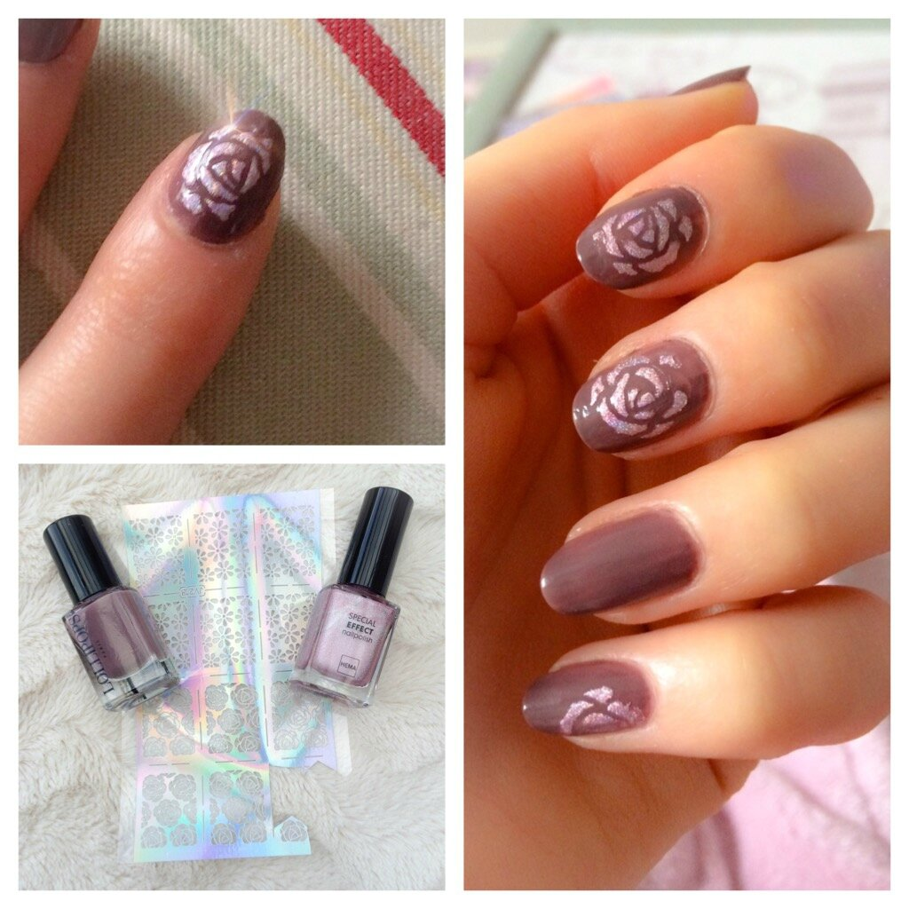 Taupe et roses