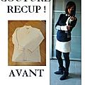 couture rcup, tuto reconstructing, comment couper un pull en laine