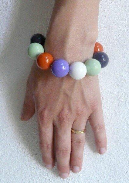 bracelet grosses perles boules Christine