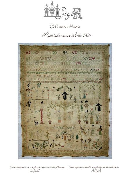 page de Maria's sampler 1831 -cover