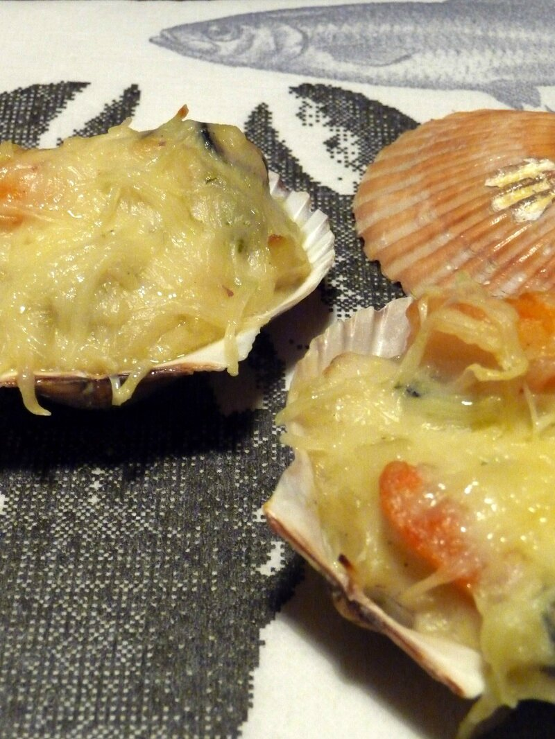 gratin de fruits de mer au champagne blogs de cuisine. Black Bedroom Furniture Sets. Home Design Ideas