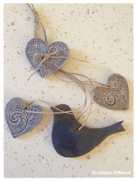 deco céramique oiseau bleu 4