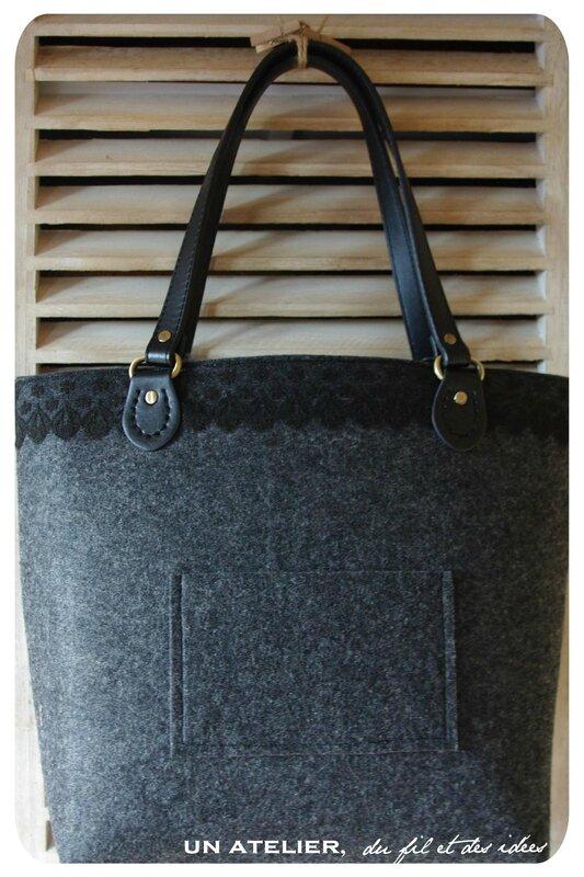 sac cabas feutrine