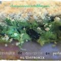 Crumble de courgette au pesto au thermomix