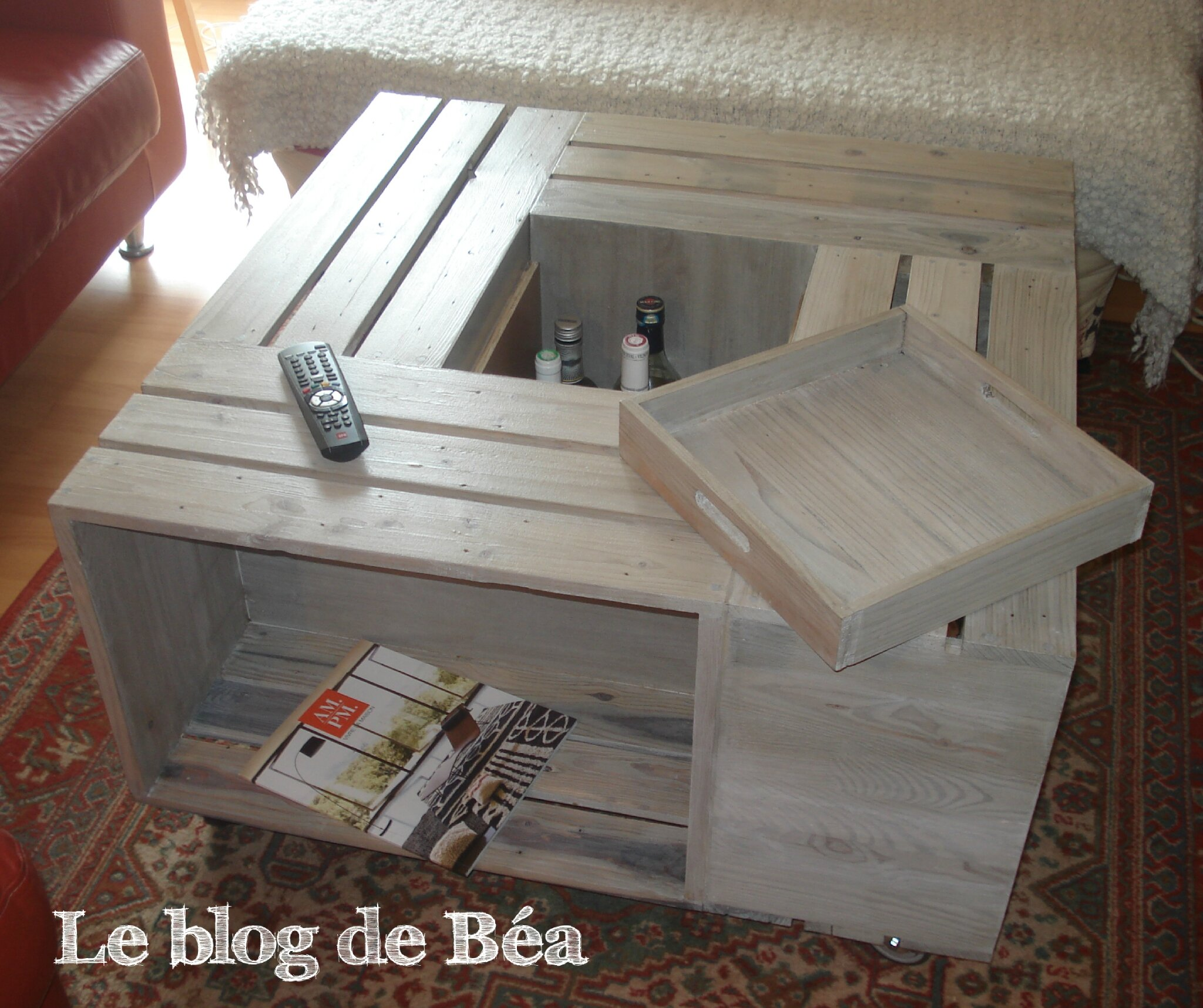 Diy table basse bar photo de 1 meubles en bois de for Table de salon en palette