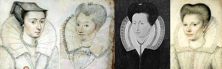 Portraits de 1590 à 1600 environ