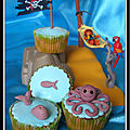 Dcoration cupcake : thme marin...