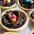 Tartelettes nids de paques choco-caramel