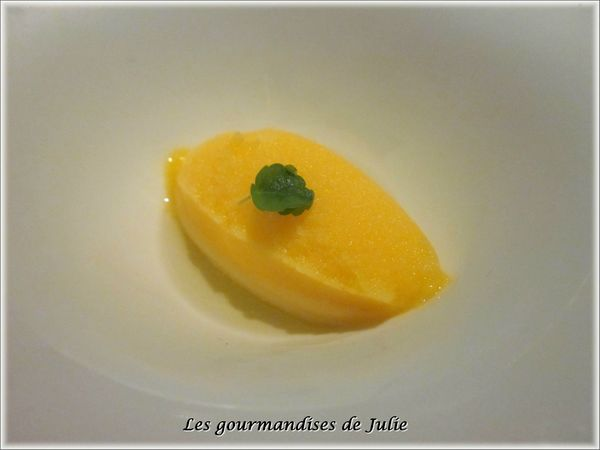 sorbet mandarine jus menthe