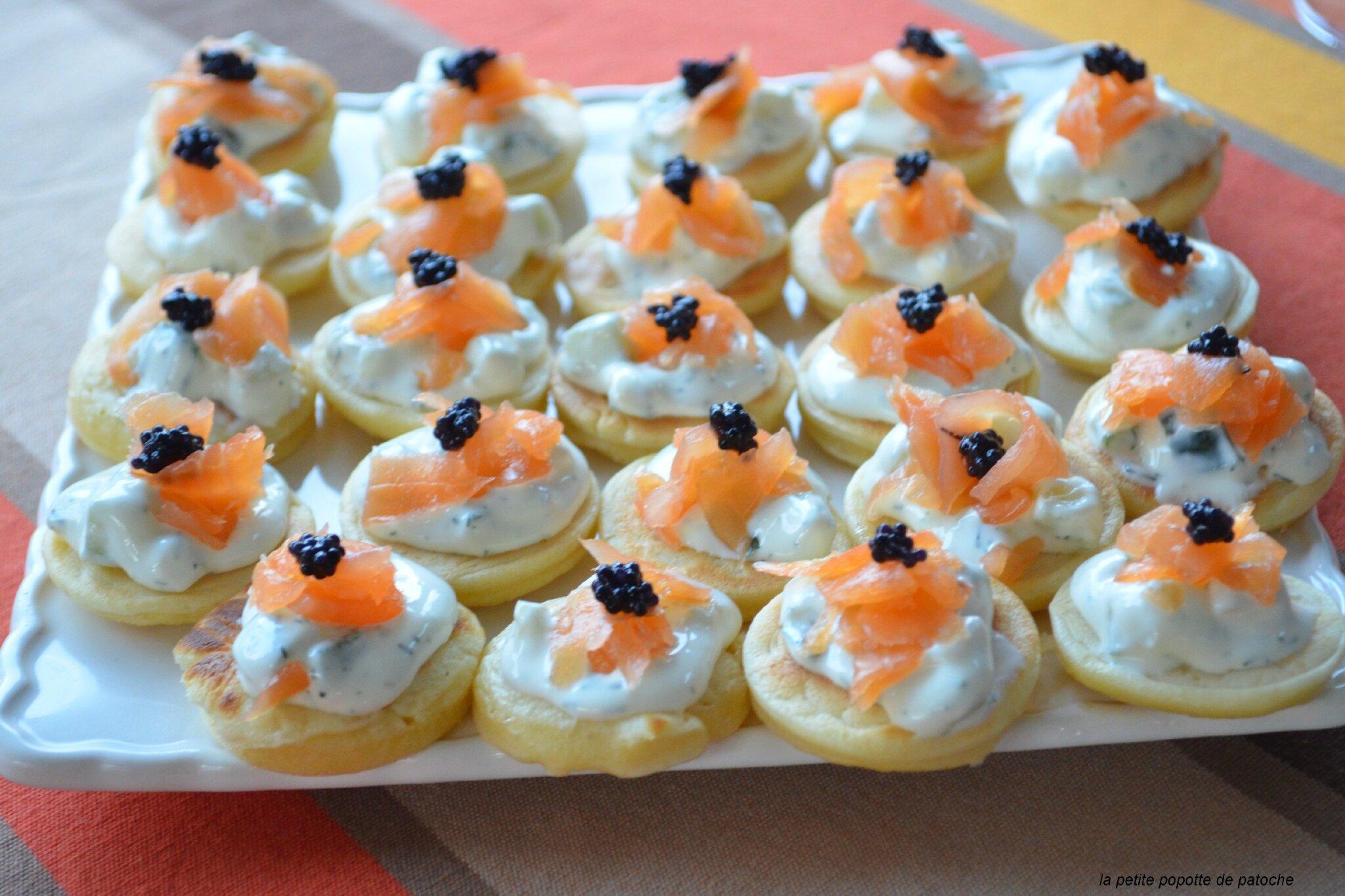Blinis au thermomix la petite popotte de patoche - Petites cuilleres aperitives pour apero sympa ...