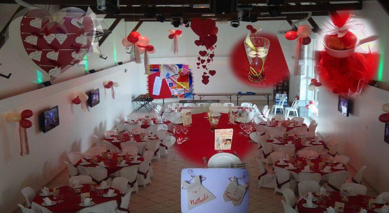 deco table mariage rouge et ivoire. Black Bedroom Furniture Sets. Home Design Ideas