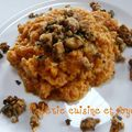 Purée de patates douces en curry au lait de coco / mashed sweet potatoes in coconut curry