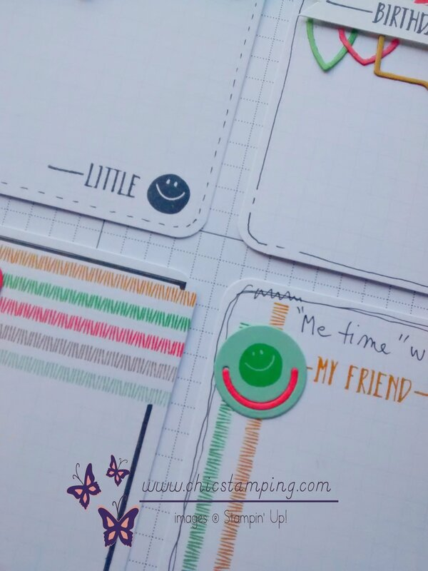 DIY project life card series paper clips - sneak peek