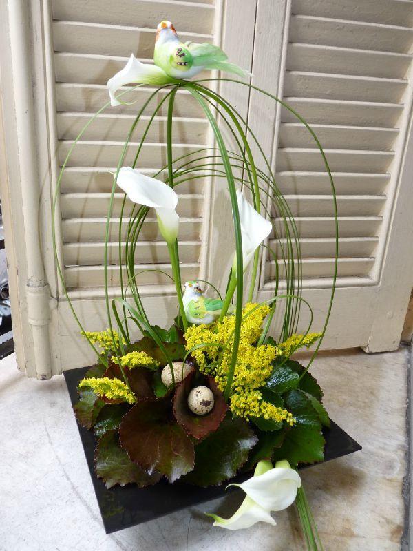 Composition florale de Pâques  Les loisirs de Sab