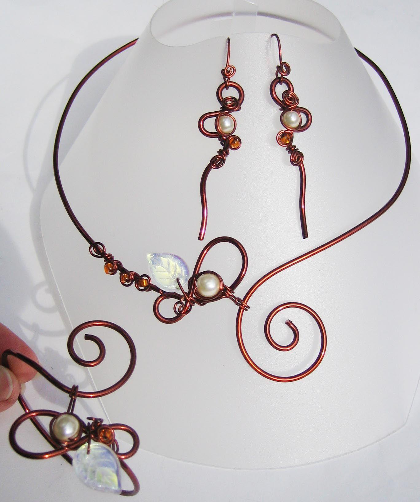 Top Collier mariage fil de cuivre, comme collier mariage fil aluminium  MR51