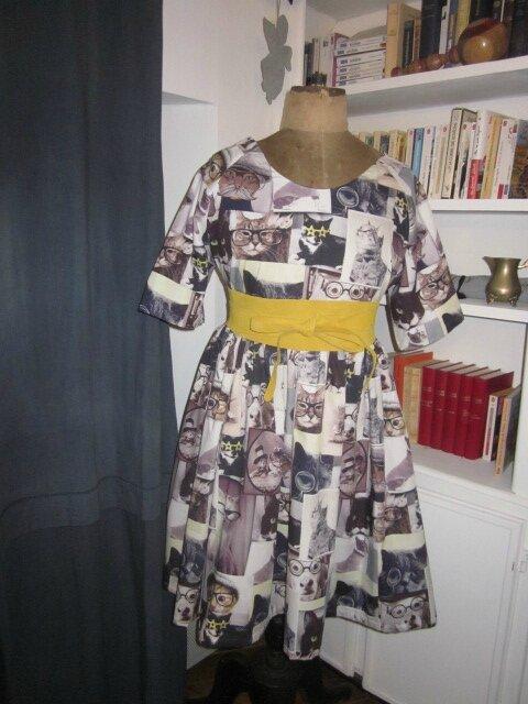 Une robe RAYMONDE plein d'humour pour nos amis les bêtes...^^