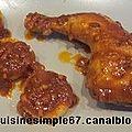 Cuisses de poulet à l'italienne