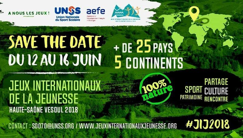 UNSS 2018 JEUX OLYMPIQUES SCOLAIRES affiche