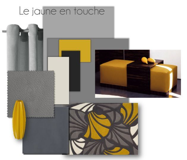 salon gris et jaune moutarde. Black Bedroom Furniture Sets. Home Design Ideas