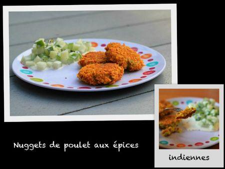 Nuggets de poulet aux épices idiennes