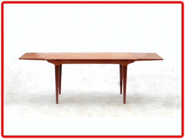table en teck vintage scandinave années 1960 (5)