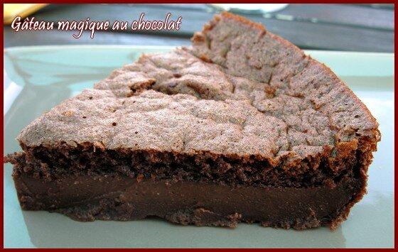 gâteau magique au chocolat - a la table de bérangère