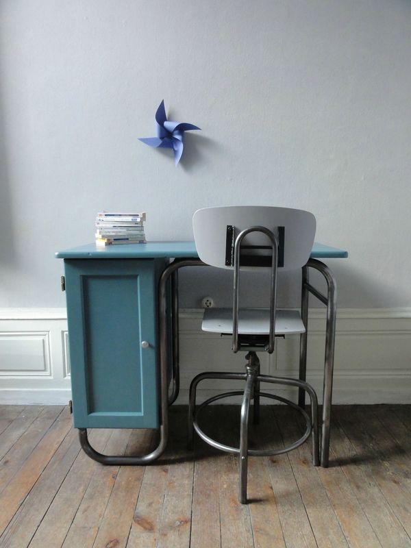 bureau maitre d 39 ecole annees 60 vintage moi. Black Bedroom Furniture Sets. Home Design Ideas