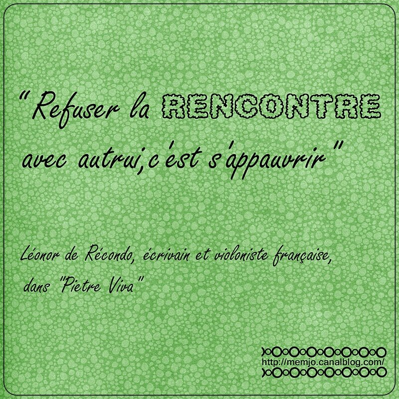 Citation De Recondo - Rencontre