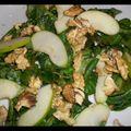 Salade mâche-pomme-noix