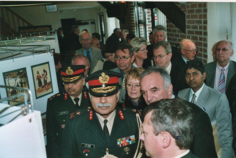 Inauguration de l'exposition Novembre 2005 Saint-Venant