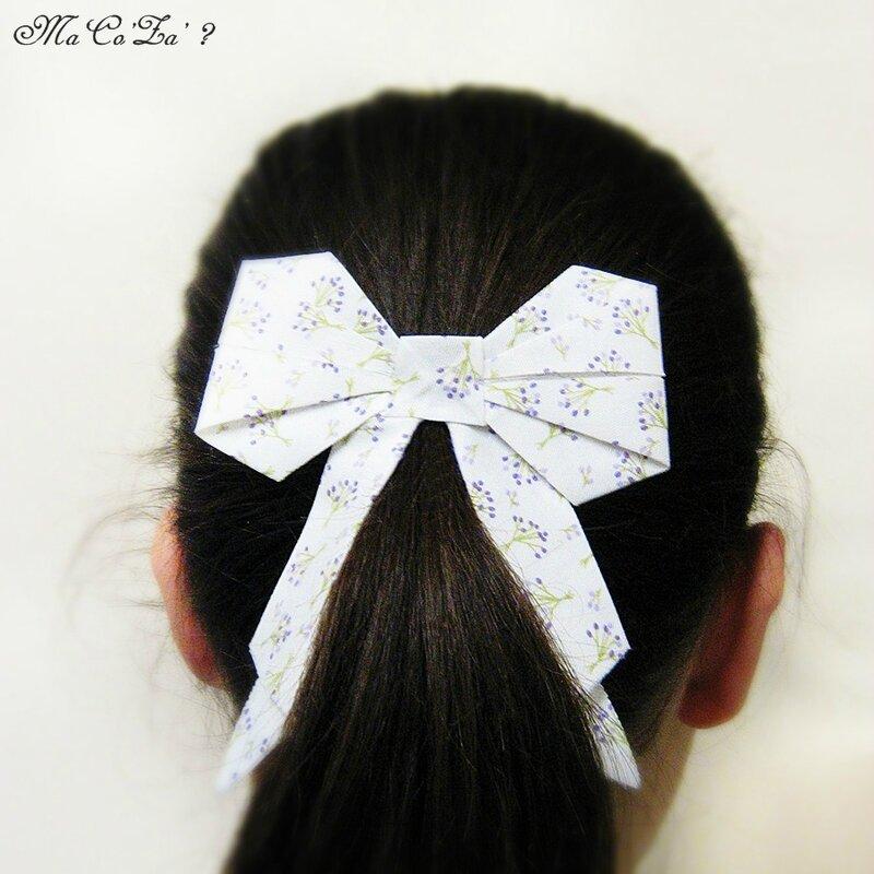 barette noeud origami