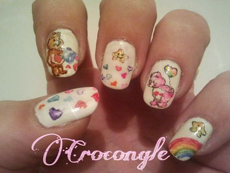 Nail art St ValentinCrocongle
