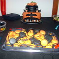 Macarons d'halloween : orange et noir