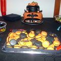 Macarons d'halloween : orange et noir